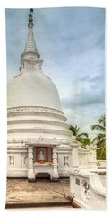temple complex at the tropical island Sri Lanka Hand Towel