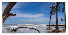 The Beach At Hunting Island State Park Bath Towel