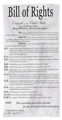 The Bill Of Rights H K Bath Towel