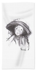 The Bonnet Hand Towel by Laurie L