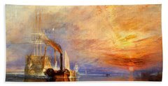 The Fighting Temeraire Tugged To Her Last Berth To Be Broken Up Bath Towel