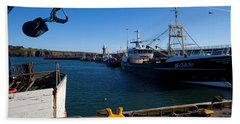 The Fishing Harbour, Dunmore East Bath Towel