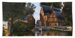 Hand Towel featuring the painting The Old Mill by Ken Wood