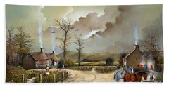 Hand Towel featuring the painting The Smithy by Ken Wood