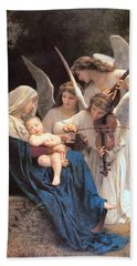 The Virgin With Angels Hand Towel by William Bouguereau