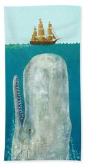 The Whale  Hand Towel by Terry  Fan