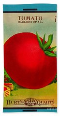Tomato Seed Package. Antique. 100 Years Old Hand Towel