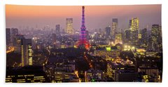Tokyo Tower - Tokyo - Japan Hand Towel by Luciano Mortula