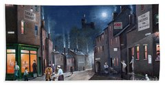 Hand Towel featuring the painting Tower Street Dudley C1930s by Ken Wood