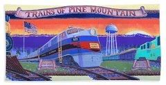 Trains Of Pine Mountain Hand Towel