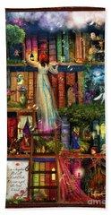 Treasure Hunt Book Shelf Hand Towel by Aimee Stewart