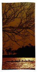 Hand Towel featuring the photograph Under The Sunset by Athala Carole Bruckner