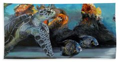 Bath Towel featuring the painting Underwater Beauty by Donna Tuten