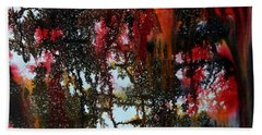 Red Forest Bath Towel