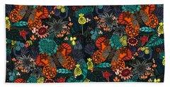 Vintage Butterfly Colour Bath Towel