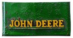 Vintage John Deere Tractor Bath Towel