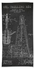 Vintage Oil Drilling Rig Patent From 1911 Bath Towel