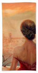 Visions Of Florence Bath Towel by Michael Rock