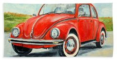 Vw Beetle Bath Towel