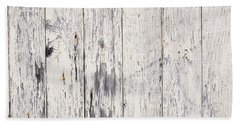 Weathered Paint On Wood Hand Towel