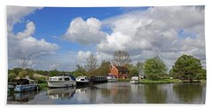 Wey Canal Surrey England Uk Hand Towel