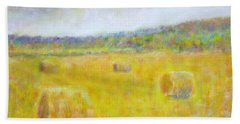 Wheat Bales At Harvest Bath Towel