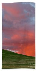 Wheat Field At Sunset Palouse Hills Hand Towel