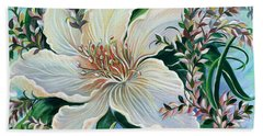 White Lily Hand Towel