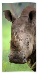 White Rhinoceros Hand Towel