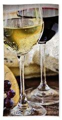 Wine And Cheese Hand Towel