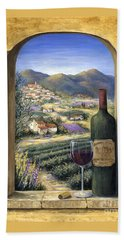 Wine And Lavender Hand Towel