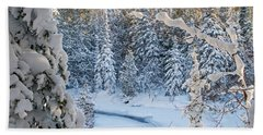 Winter At Grand Marais Creek Hand Towel
