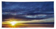 Hand Towel featuring the photograph Winter Dawn Over New England by Greg Reed