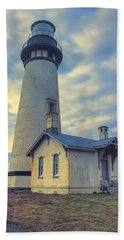 Yaquina Head Lighthouse Bath Towel by Cathy Anderson