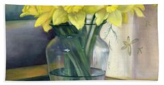 Yellow Daffodils Bath Towel
