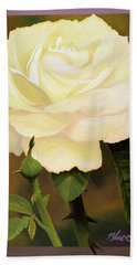 Yellow Rose Hand Towel by Blue Sky