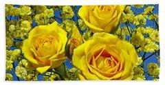 Yellow Roses Hand Towel