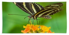 Bath Towel featuring the photograph Zebra Longwing by Jane Luxton