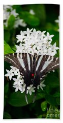 Zebra Swallowtail Bath Towel by Angela DeFrias