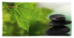 Zen Stones On Water Hand Towel