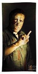 Zombie Death Threat Hand Towel