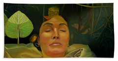 Bath Towel featuring the painting 10 30 A.m. by Thu Nguyen