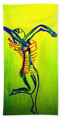 Dinka Dance - South Sudan Bath Towel by Gloria Ssali