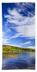 Fall Forest And Lake Bath Towel