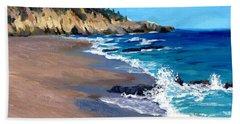 1000 Steps Beach In Laguna Beach California Bath Towel by Alice Leggett