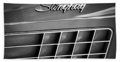 1972 Chevrolet Corvette Stingray Emblem Bath Towel