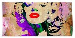 Marilyn Monroe Diamond Earring Collection Hand Towel