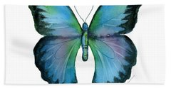 12 Blue Emperor Butterfly Bath Towel