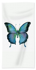 12 Blue Emperor Butterfly Hand Towel