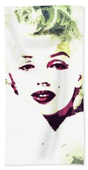 Hand Towel featuring the digital art Marilyn Monroe by Svelby Art